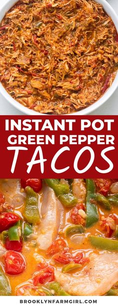 Use chicken, cherry tomatoes, green peppers and onion to make delicious shredded chicken tacos in the Instant Pot! So easy, so good! Mexican Breakfast Recipes, Mexican Food Recipes, Ethnic Recipes, Cherry Tomato Recipes, Best Comfort Food, Comfort Foods, Shredded Chicken Tacos, Fresh Tomato Salsa, Frozen Meals