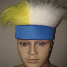 蓝色头带+黄白毛