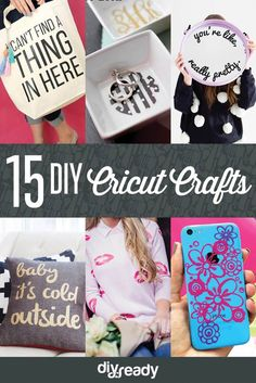 DIY Cricut Crafts | Fun and Cute Projects for Kids and Adults by DIY Ready at http://diyready.com/diy-cricut-crafts/