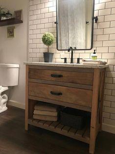 #InteriorDesign #Interiors #Minimalism #Minimalist #dream #home #architecture #interior #design #simplicity #Master Bathroom #Bath #Style #Homedecorating #masterBathroom 30 Bathroom Vanity, Rustic Bathroom Vanities, Brown Bathroom, Bathroom Sets, Bathroom Interior, Reclaimed Wood Bathroom Vanity, Vessel Sink Vanity, Single Sink Bathroom Vanity, Bathroom Fixtures