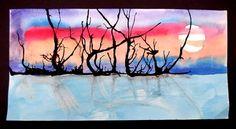 Ink Blown Landscapes