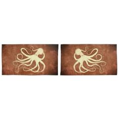 Octo 1 on Chocolate - Set Of King Pillowcases - create your own personalize