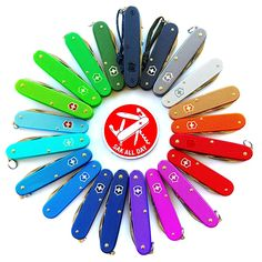 """""""Try to be a rainbow on someone's cloud"""" - Maya Angelou Photo by Victorinox Alox, Victorinox Knives, Victorinox Swiss Army Knife, Cool Knives, Knives And Swords, Survival Knife, Survival Gear, Best Pocket Knife, Pocket Knives"""