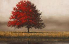 The Red Pond - Acrylic on Canvas - Tim Gagnon