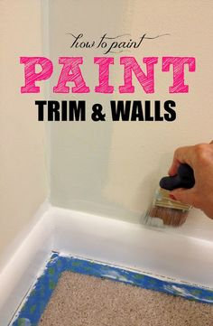 How to paint trim and walls the easy way!