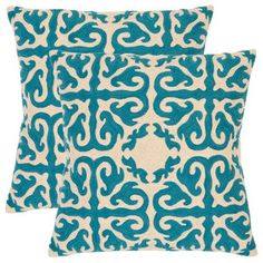 Teal pillow. Accent pillow for chair
