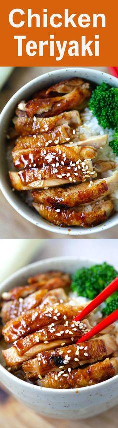 Chicken Teriyaki – learn how to make teriyaki sauce and chicken teriyaki that taste like the best Japanese restaurants. So easy and so good | rasamalaysia.com