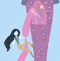 "arielislove: "" Had so much fun drawing this xD ♥ "" Illustrations, Illustration Art, Some Girls, Rapunzel, Love Art, Cool Drawings, Adventure Time, Amazing Art, Wonderland"