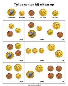Schoolwiz - Sommen groep 4 Primary Maths, Primary School, Elementary Schools, Creative Teaching, Teaching Math, Money Activities, Aperol, Math Magic, Numbers For Kids