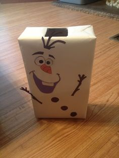 Olaf valentines box- Olaf is snowman from Frozen!