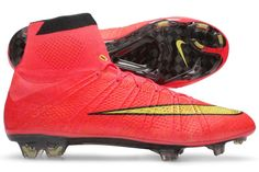 f1e7002699 2014 Chaussure de foot Nike Mercurial Superfly IV FG -Hyper rouge or noir Nike  Mercurial