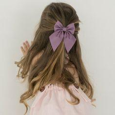Baby Girl Hairstyles, Cute Hairstyles, Braided Hairstyles, Long Curly Hair, Curly Hair Styles, Toddler Hair, Toddler Girls, Girls Bows, Hair Barrettes