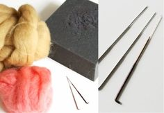 Needle Felting Basics...  Some of you may be curious as to how I make my needle felted products in the shop.  I have put together a very basic guide to getting started for those of you that may want to give it a try or just as a little insight