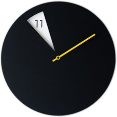 Sabrina Fossi Design FreakishCLOCK Wall Clocks Black - freakishclock... (1.128.825 IDR) ❤ liked on Polyvore featuring home, home decor, clocks, multi, yellow home decor, black clock, yellow wall clock, black wall clock and yellow home accessories