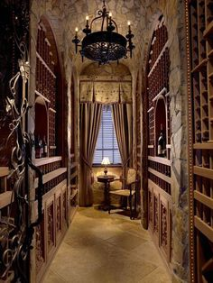 Wine Cellar - The wonders of western inspired interiors. - The Enchanted Home Beautiful Interiors, Beautiful Homes, Home Wine Cellars, Wine Cellar Design, Cafe Bar, Enchanted Home, Tuscan Decorating, In Vino Veritas, Wine Storage