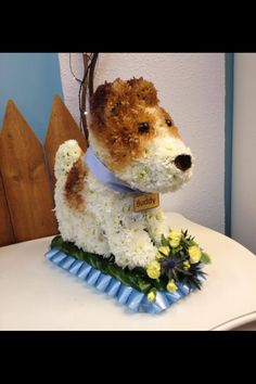 Dog funeral tribute.