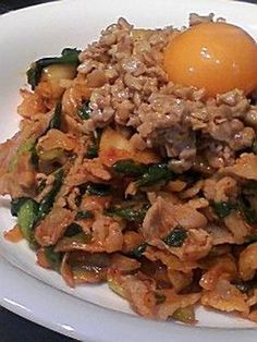 Natto pork kimchee