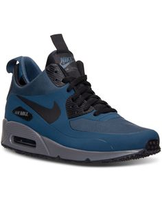online store 7329a 7d26c Nike Men s Air Max 90 Mid Winter Casual Sneakers from Finish Line Men -  Finish Line Athletic Shoes - Macy s