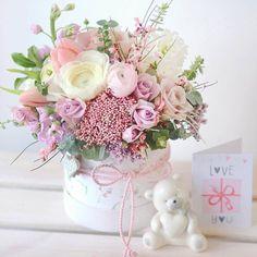 53 Ideas For Flowers Bouquet Pink Pastel Faux Flower Arrangements, Beautiful Flower Arrangements, Beautiful Flowers, Candy Flowers, Faux Flowers, Paper Flowers, Fresh Flowers, Flower Box Gift, Flower Boxes