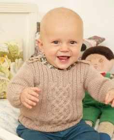 CABLE BABY SWEATER PATTERN | Free
