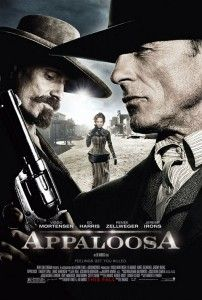 """Appaloosa on DVD January 2009 starring Viggo Mortensen, Ed Harris, Renée Zellweger, Jeremy Irons. Set in the Old West territory of New Mexico, """"Appaloosa"""" revolves around a pair of hired guns (Viggo Mortensen and Ed Harris) who Viggo Mortensen, Top Movies, Great Movies, Movies To Watch, Movies And Tv Shows, Excellent Movies, Movies Free, Comedy Movies, Appaloosa"""