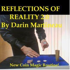 Reflections of Reality 2.0 Magic Book, Magic Art, Learn Magic Tricks, Kevin James, Magic Video, Close Up Magic, Journal News, Small Mirrors, Half Dollar