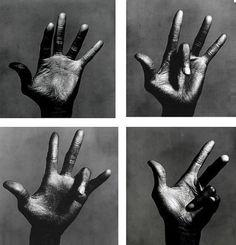 Les mains de Miles Davis New York 1986 photographiées par Irving Penn Miles Davis, Eduardo Kingman, Contact Sheet, Show Of Hands, Jazz Musicians, Great Photographers, Portraits, Black And White Photography, Fine Art Photography