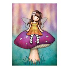 Gorjuss Cards at Santoro London. The authentic and unique Gorjuss greeting cards with its beautiful aesthetic, it is a card that anyone would be thrilled to receive! Easy Fairy Drawing, Fairy Drawings, Mosaic Kits, Santoro London, Fairy Paintings, Rock Painting Ideas Easy, Fairy Art, Art Journal Pages, Cute Dolls