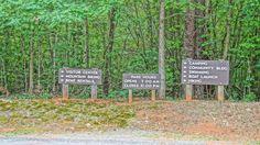 Signs at Lake Norman State Park