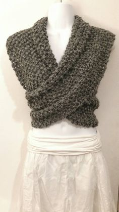 3-way scarf- mobius cowl, cardigan and infinity scarf