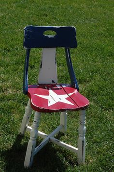 Reclaimed Vintage Americana Decor Chair