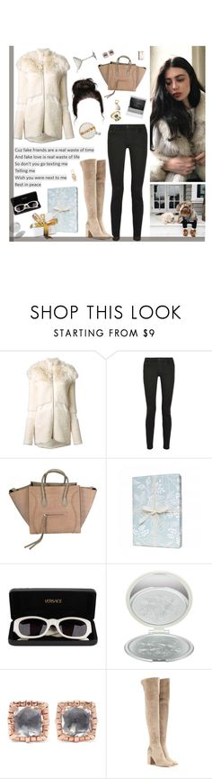 """Maybe you're looking for different way 'Cause I know when you act like this"" by alxksandria ❤ liked on Polyvore featuring Blumarine, Proenza Schouler, CÉLINE, Rifle Paper Co, Versace, Paul & Joe, Larkspur & Hawk, Ladurée and Gianvito Rossi"