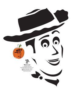Sheriff Woody Toy Story Pumpkin Pattern