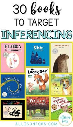 Making inferences is a key part of skilled reading comprehension and effective communication. Use these 30 books to target inferencing in speech therapy and more! #slpeeps #ashaigers #inferencing #speechtherapybooks