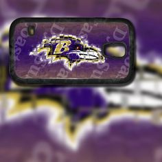 Baltimore Ravens Crest Design on Samsung Galaxy S4 Black Rubber Silicone Case by EastCoastDyeSub on Etsy https://www.etsy.com/listing/195568172/baltimore-ravens-crest-design-on-samsung