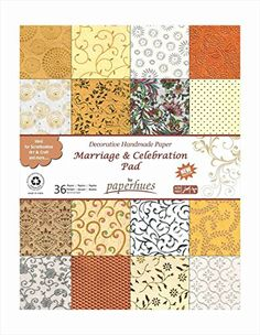 Paperhues Wedding Scrapbook Paper 85x11 Pad 36 Sheets  Celebration Pad Decorative Specialty Handmade Origami Paper Pad for Wedding Cards Gift Wrap Scrapbook Decor Art Craft Projects ** You can find out more details at the link of the image.Note:It is affiliate link to Amazon.