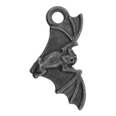 22.5x12mm Gunmetal Pltd Pewter Bat Charm | Fusion Beads