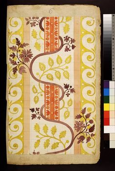 * Spitalfields, England (designed) ca. 1711 James Leman born 1688 - died 1745 (probably, designer) Pencil, pen and ink, watercolour and bodycolour on laid paper Textile Patterns, Textile Prints, Textile Design, Print Patterns, Fabric Wallpaper, Pattern Wallpaper, Pattern Design, Print Design, Art Fund