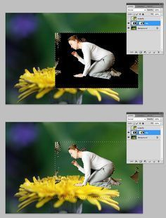 Selecting and using layer masks in Adobe Photoshop - before/after