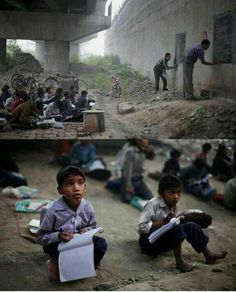 """""""Think you have it hard? These are children living in poverty in India, who are eager to receive an education!"""