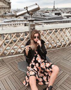 Ganni street style   Sophie May   Geroux Silk Wrap Dress
