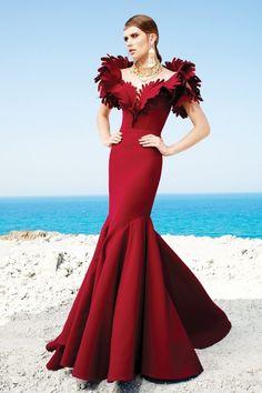 Breathtaking Fouad Sarkis Couture 2017 - Be Modish Elegant Dresses, Pretty Dresses, Beautiful Dresses, Red Fashion, Couture Fashion, Couture Style, Couture Dresses, Fashion Dresses, Estilo Glamour
