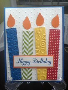 Birthday candles card stampintigger