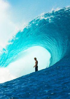 photo of John John riding a beast - Photo taken from Surfline.