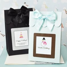 Personalized Winter Wedding Favor Bags