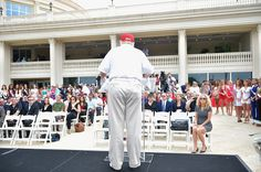 Donald Trump attends opening of Red Tiger Golf Course at Trump National Doral on January 12 2015 in Doral Florida