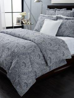 Ralph Lauren Suite Paisley Navy Blue Full Queen 100 Cotton Comforter | eBay