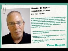 New Way to Market Your #Resume! Tim McKee's #Visume'