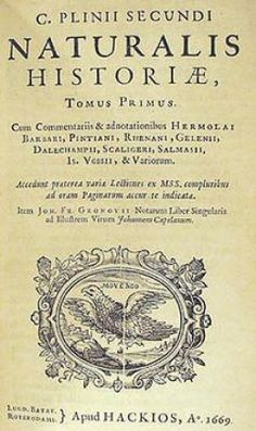 Naturalis Historia, Volume 1