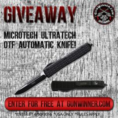 Enter to win a Microtech Automatic Knife from GunWinner